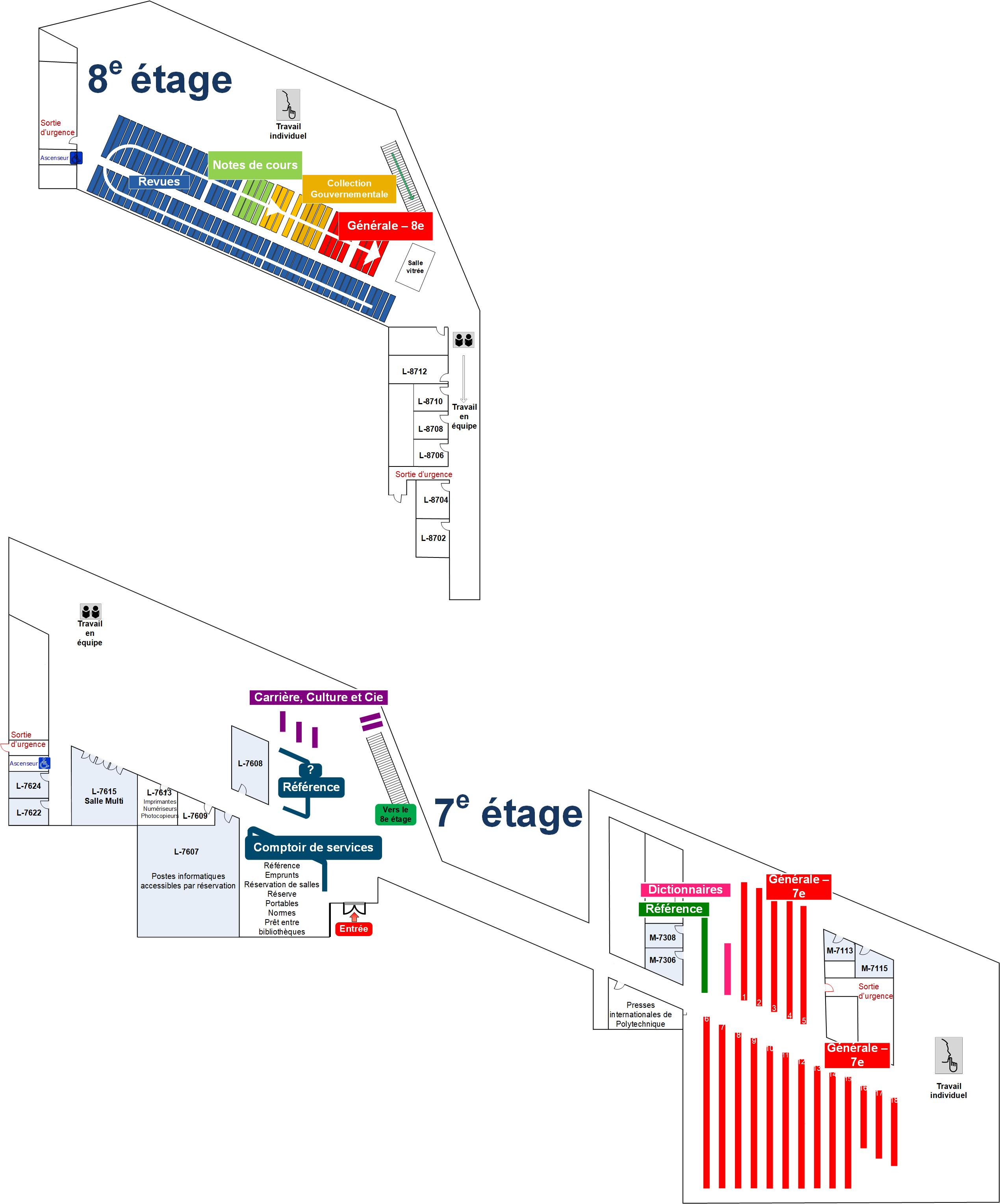 Map of the Library