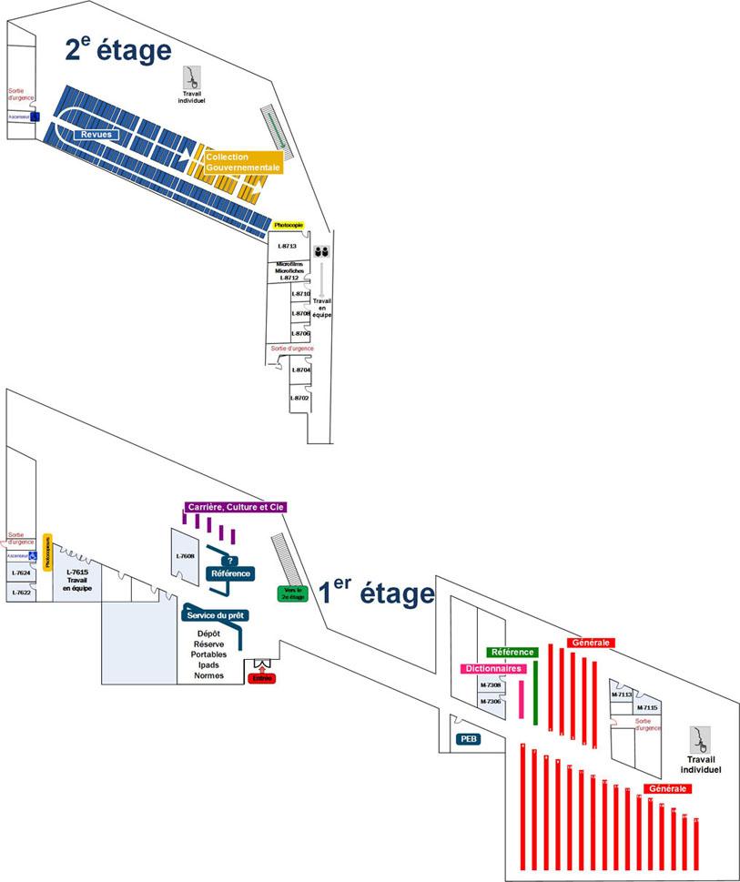 Plan de la Bibliothèque