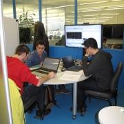 îlot de travail en équipe