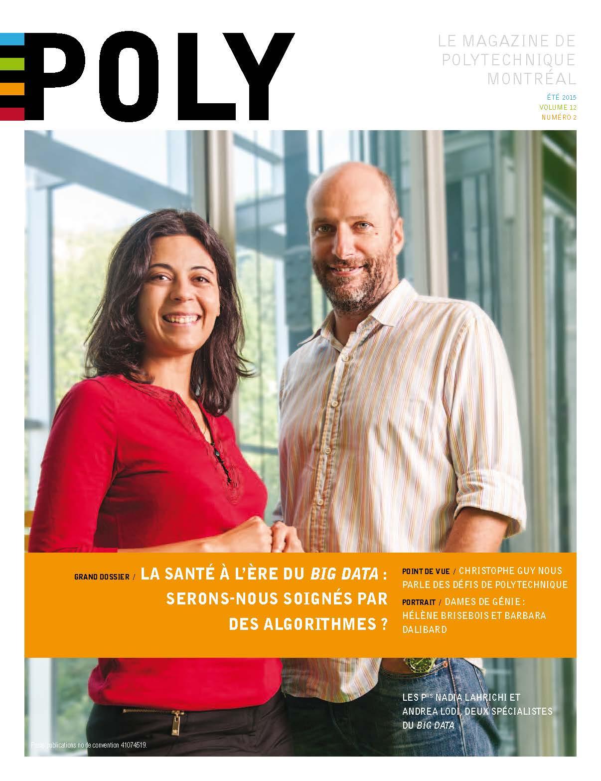 Page couverture - magazine Poly - été 2015