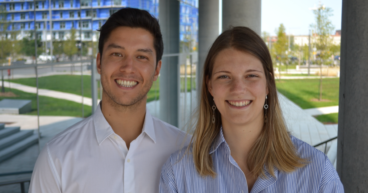 Aymeric Guy et Catherine Forest-Nault, doctorants à Polytechnique Montréal.