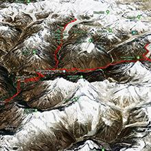 Carte périple en Himalaya