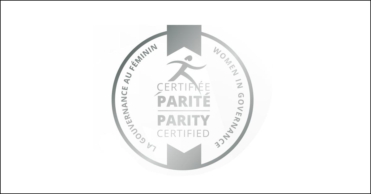 Logo Certification Parité niveau argent.