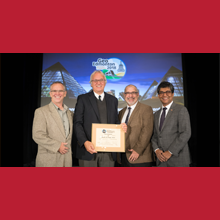 Professor Michel Aubertin receives the 2018 R.F. Legget Medal from the Canadian Geotechnical Society