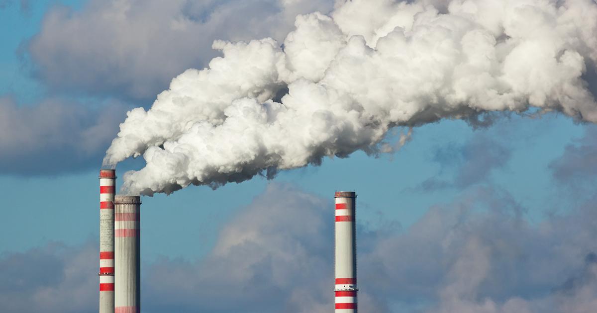 Représentation de l'émission de dioxyde de carbone (CO2). Photo : Adobe Stock)