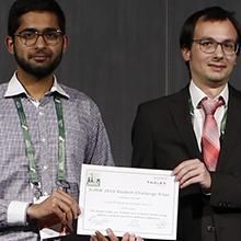 Intikhab Hussain membre de l'équipe gagnante du Défi étudiant de la Semaine européenne des micro-ondes (EuMW) 2019
