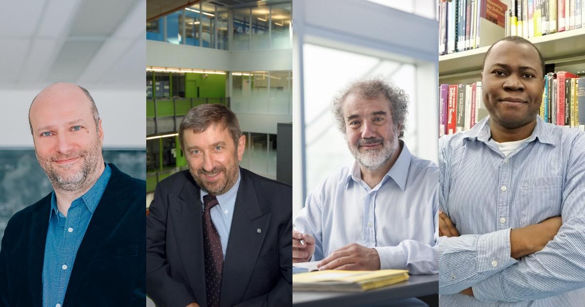 Les professeurs Andrea Lodi, Giuliano Antoniol, Ettore Merlo et Foutse Khomh