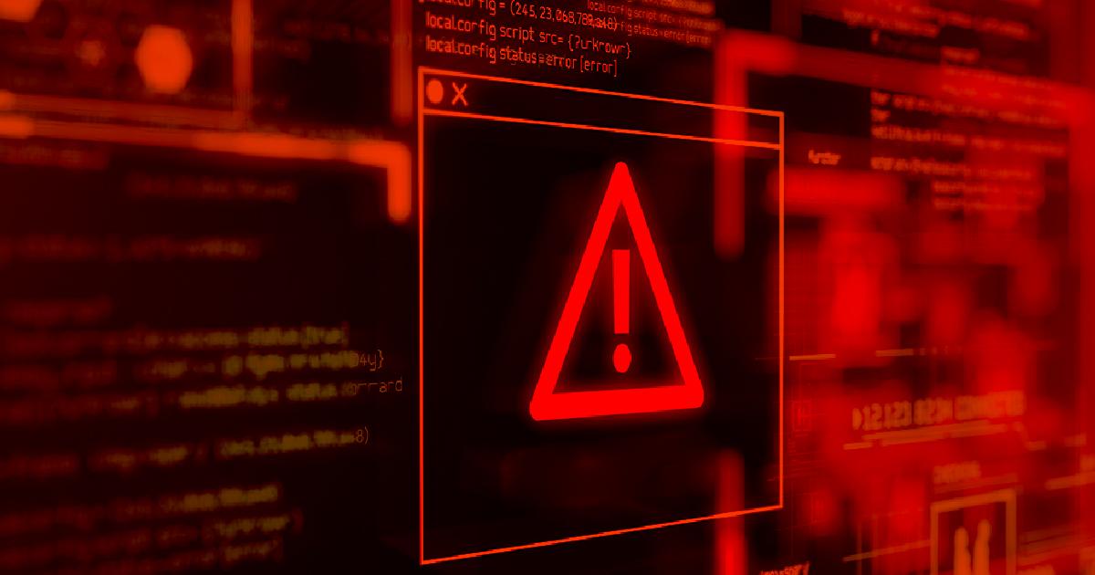Ilustración del concepto de código de computadora vulnerable