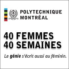 Journée internationale des femmes 2020 : lancement de la campagne 40 femmes/40 semaines à Polytechnique Montréal