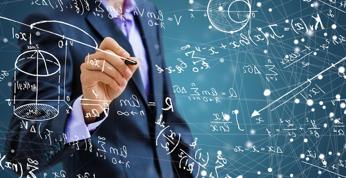 Représentation du concept des mathématiques.