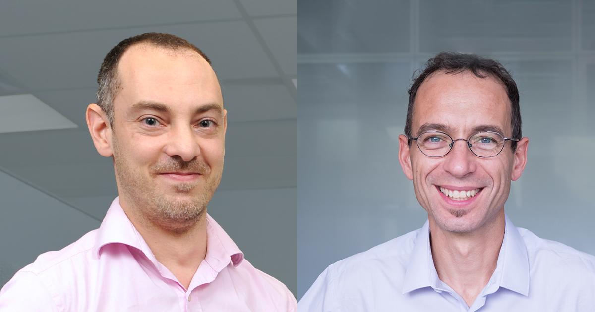 Maxime Raison, professeur titulaire au Département de génie mécanique, et Manuele Margni, professeur titulaire au Département de mathématiques et de génie industriel.