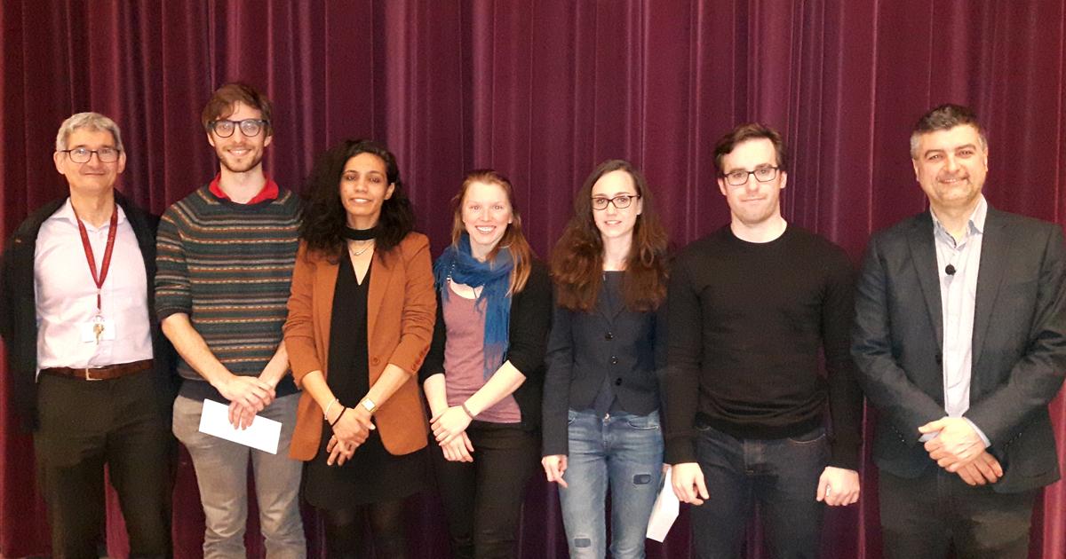 Les participants au volet de concours «Ma thèse en 180 secondes» 2018 à Polytechnique Montréal