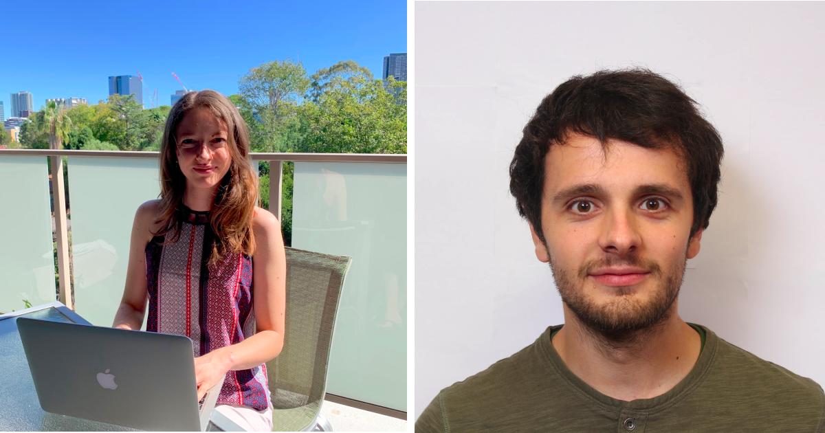 Lila Stahl, finissante au baccalauréat en génie biomédical, et Charley Gros, doctorant en génie biomédical à Polytechnique.
