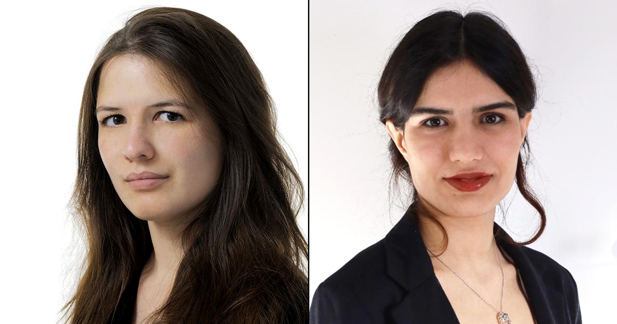 Chloé Bourquin et Ghazaleh Mirakhori