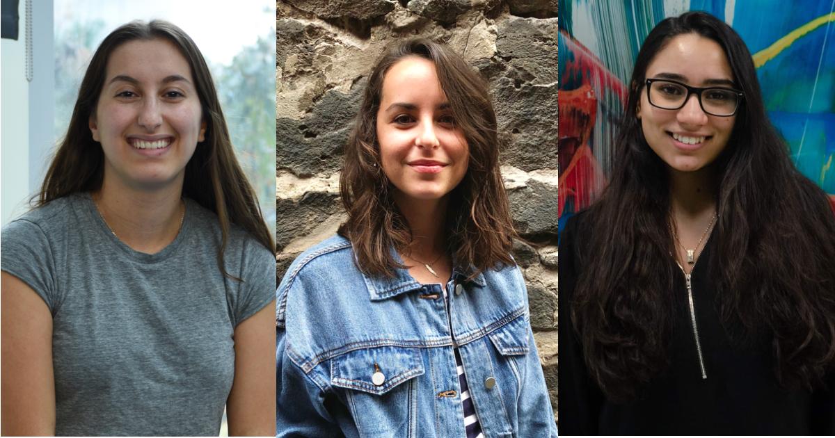 Nesrine Rekik, Chiara Roche et Khadija Yakoubi.