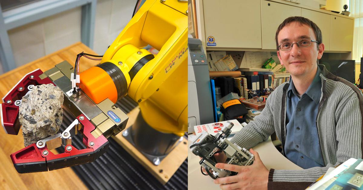 Des doigts mécaniques autoadaptatifs montés sur des pinces de bras robotisés; Pr Lionel Birglen de Polytechnique Montréal.