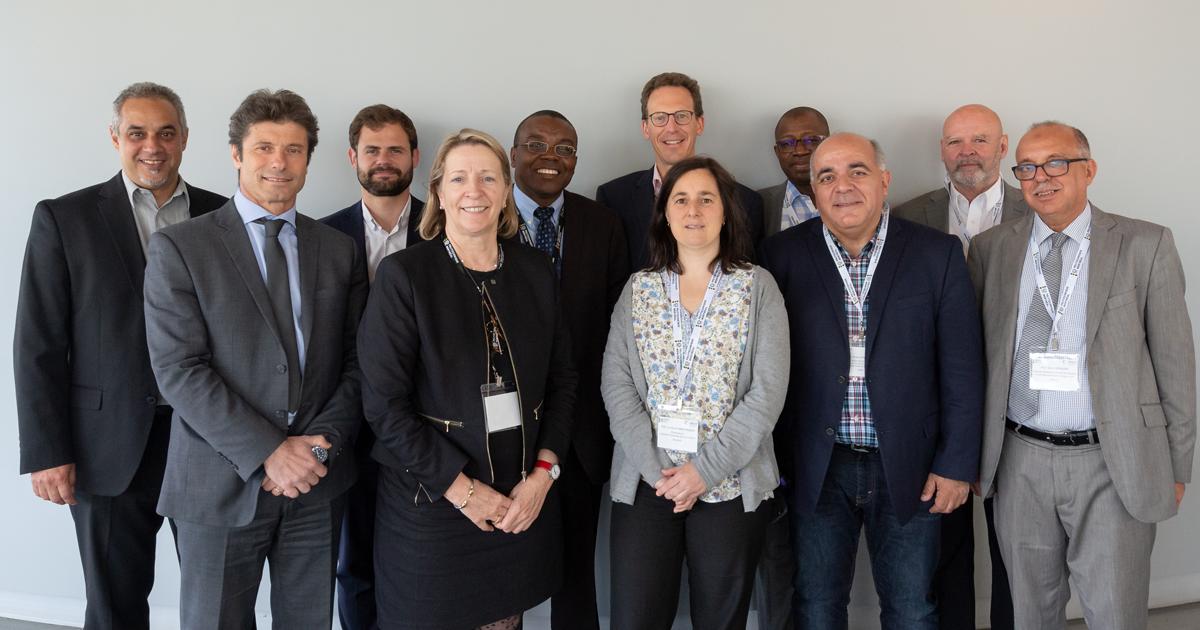 Des participantes et participants à la 15e séance semestrielle du Réseau d'excellence des sciences de l'ingénieur de la Francophonie, tenue en mai 2019 à Polytechnique Montréal.