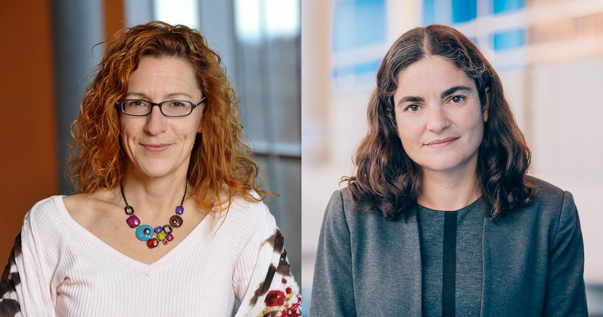 De gauche à droite : Annie Ross, directrice associée à la Direction de la formation et de la recherche de Polytechnique Montréal; Delphine Curié-Pernier, directrice des études supérieures de Polytechnique Montréal