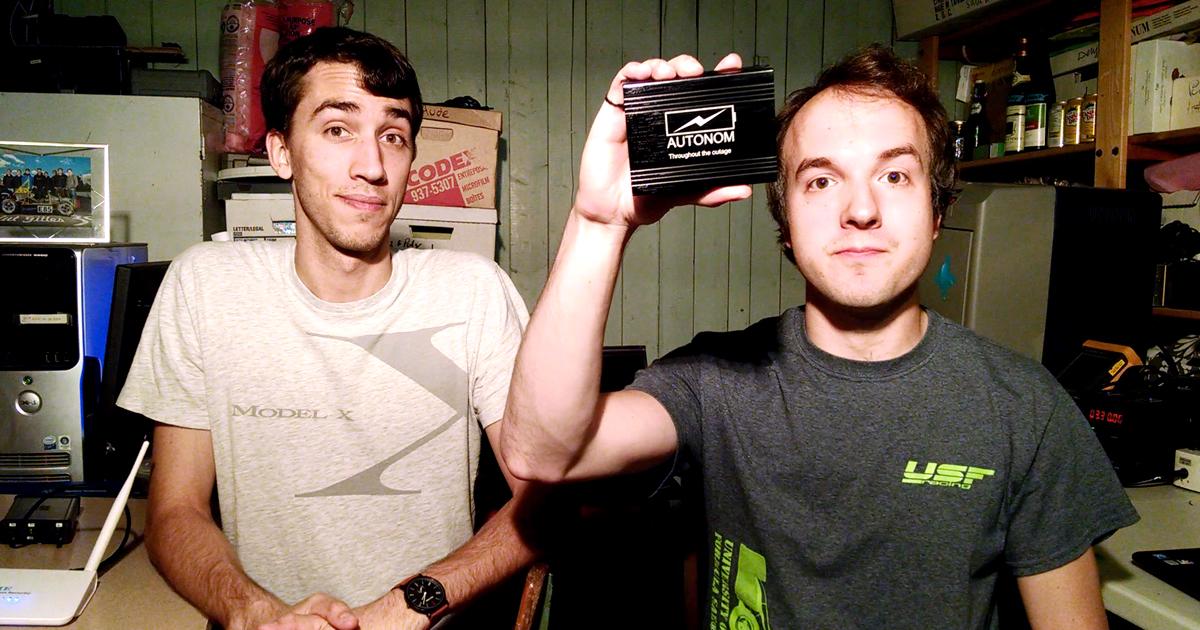 phaël Neveu et Hugues Marceau, diplômés au baccalauréat en génie électrique de Polytechnique Montréal et cofondateurs d'Autonom.