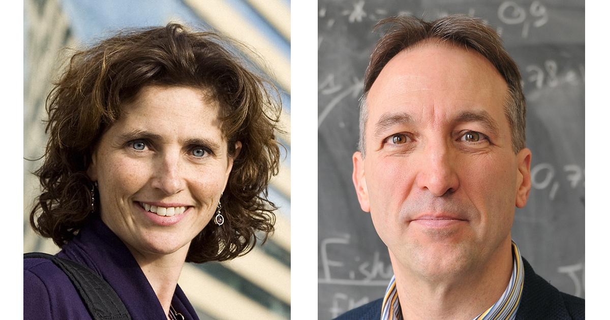 Catherine Morency, professeure titulaire au Département des génies civil, géologique et des mines de Polytechnique Montréal, et Normand Mousseau, directeur académique de l'Institut de l'Énergie Trottier.