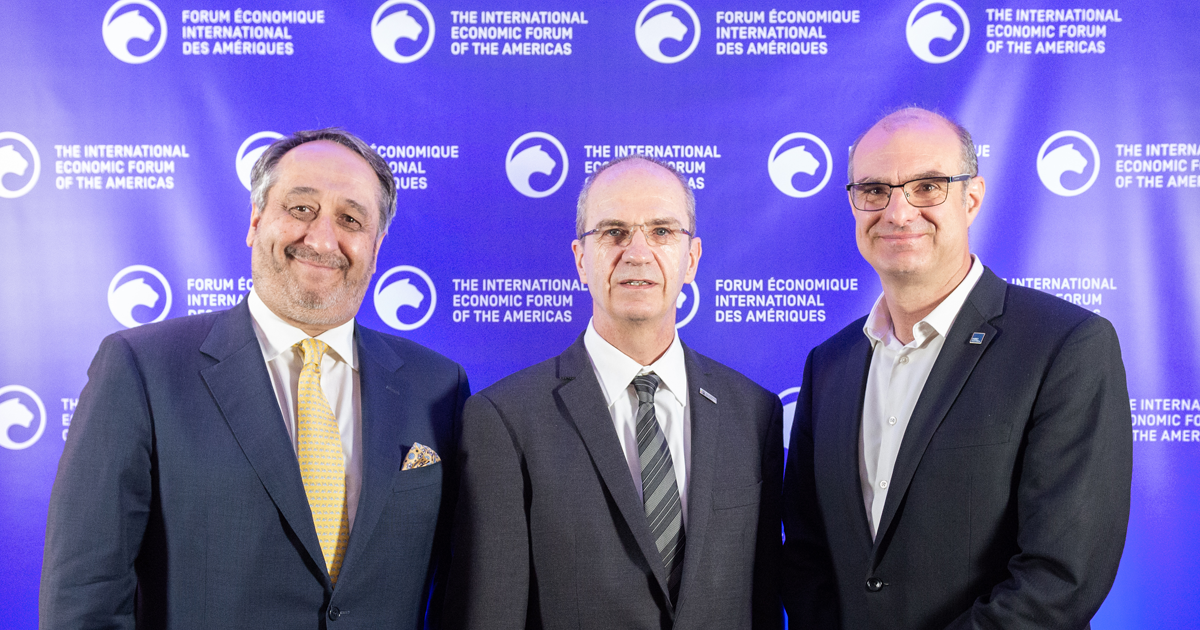 From left to right: Michel Patry, former director of HEC Montréal; Philippe A. Tanguy, President of Polytechnique Montréal; Federico Pasin, Director of HEC Montréal.