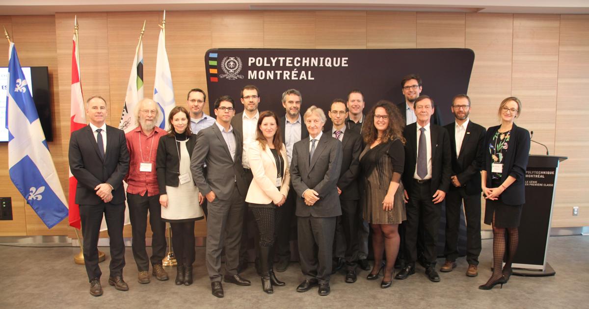 Les représentants de la Chaire ICV du CIRAIG et de ses partenaires
