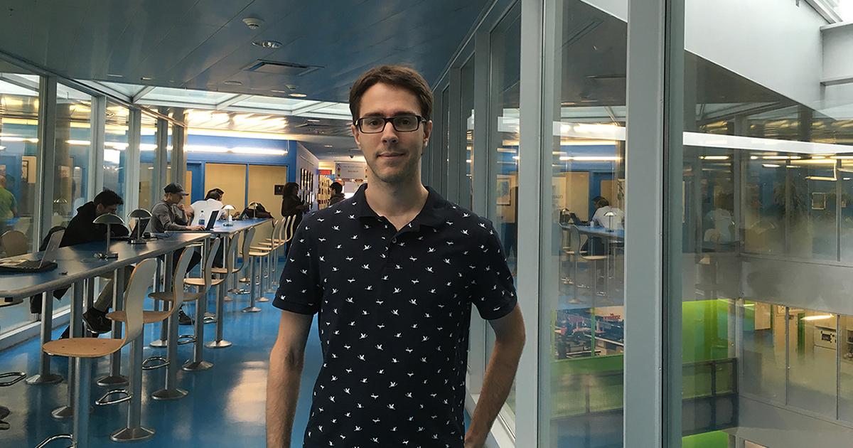 Charles Coulombe, étudiant au doctorat au Département de génie mécanique de Polytechnique Montréal.