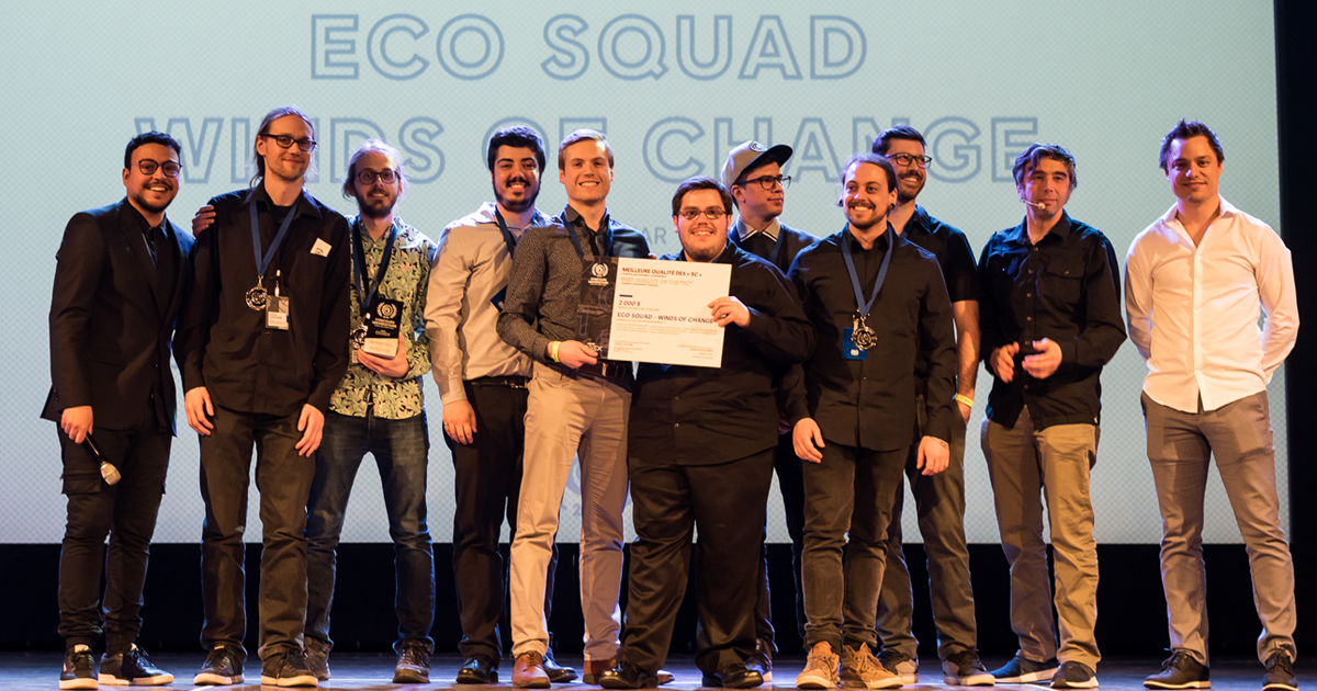 Les membres de l'équipe du jeu Eco Squad – Winds of Change. (Photo : Loïc Romer)
