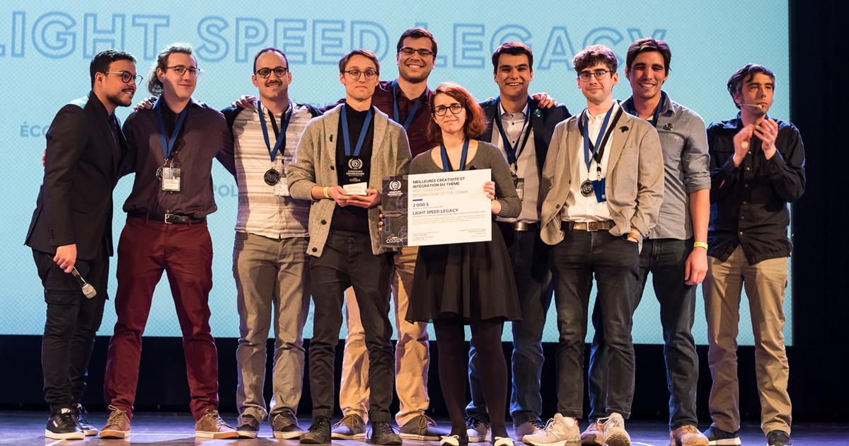 Les membres de l'équipe du jeu Light Speed Legacy. (Photo : Loïc Romer)