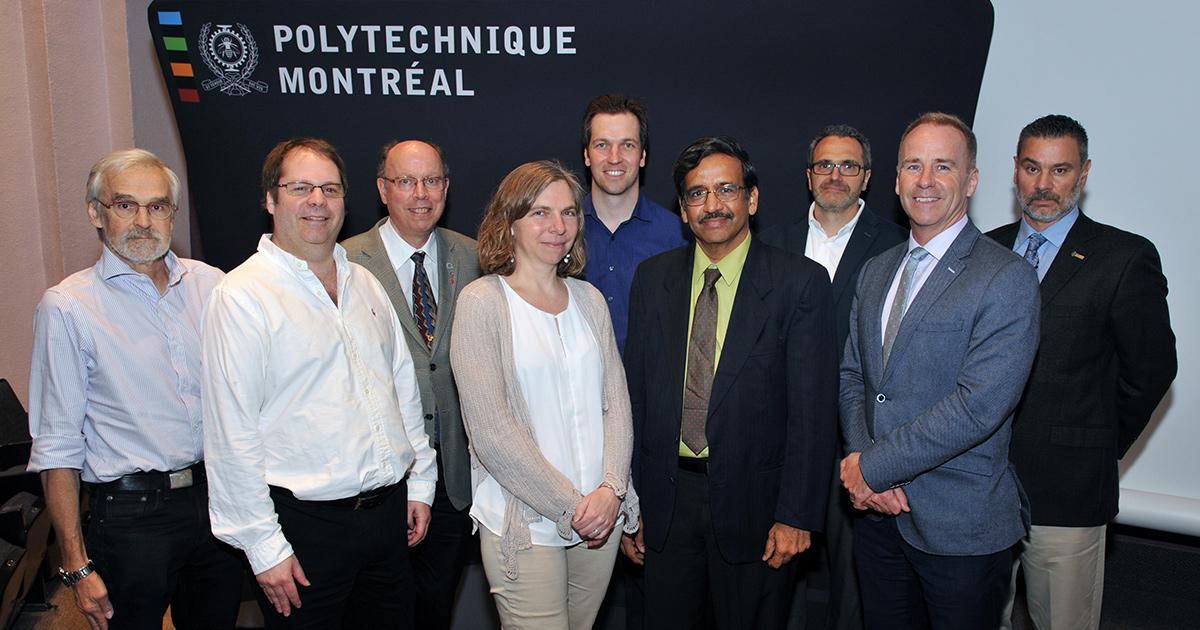 Les conférenciers et animateurs de la 16e Journée de la recherche de Polytechnique Montréal