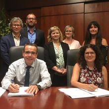 Signature de la nouvelle convention collective entre Polytechnique Montréal le SEBEP en 2018.
