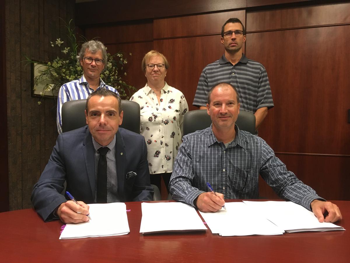 Signature de la nouvelle convention collective entre Polytechnique Montréal et le SECTEP, le 31 août 2018.