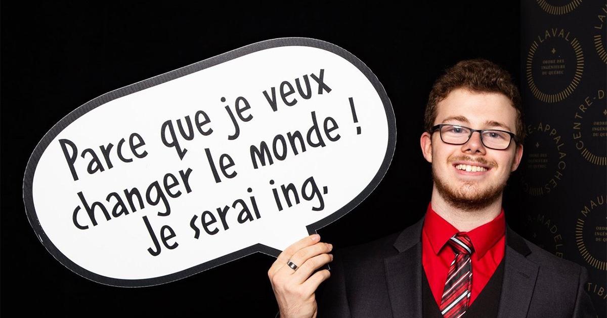Danick Lamoureux, septième boursier Schulich Leader à Polytechnique Montréal.