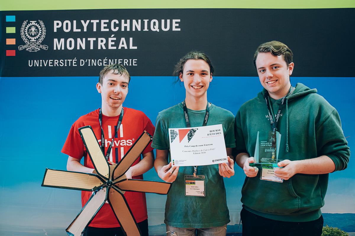 De gauche à droite : Jordan Pépin, Justin Veilleux et Antoine Rhéault. (Photo : Caroline Perron photographies)