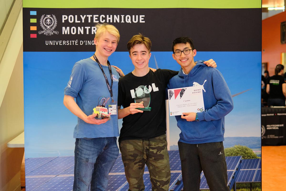 De gauche à droite : Vincent Therrien, Édouard Coulombe et Rico Li. (Photo : Isabelle Racine)