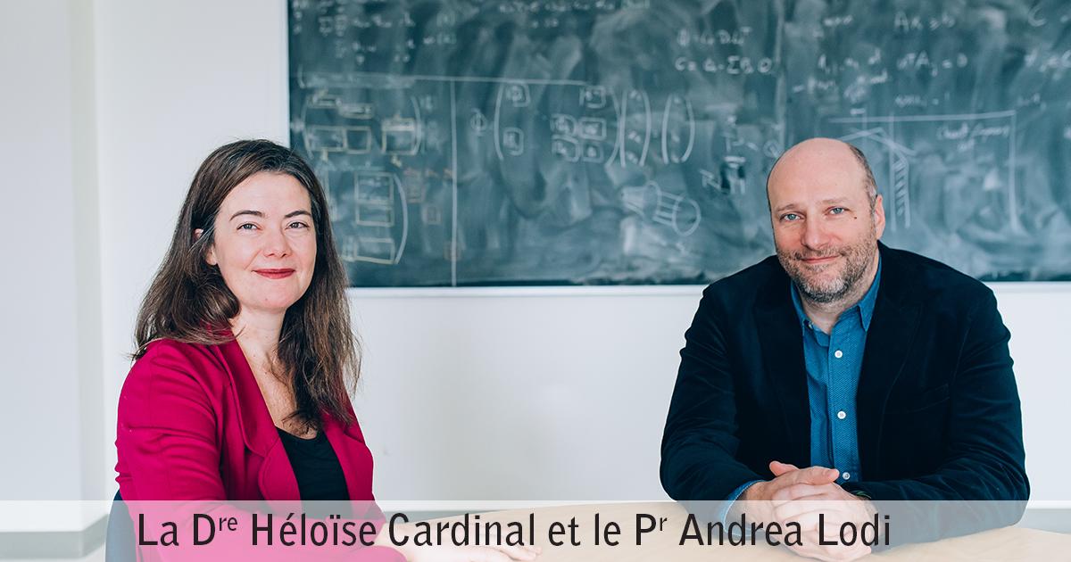 Docteure Héloïse Cardinale et professeur Andrea Lodi