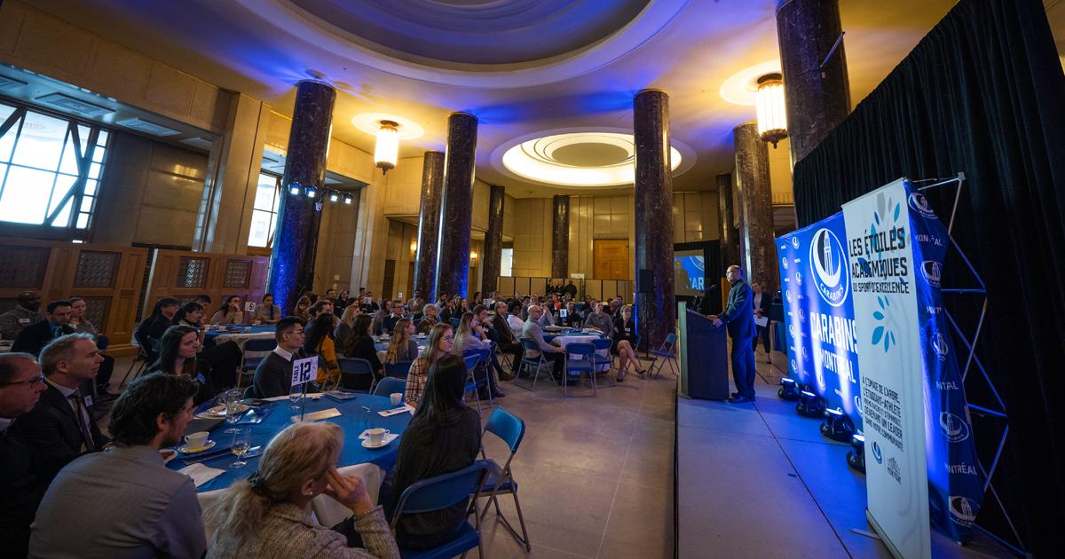 Déjeuner des Étoiles académiques des Carabins 2017-2018 (Photo : Carabins)