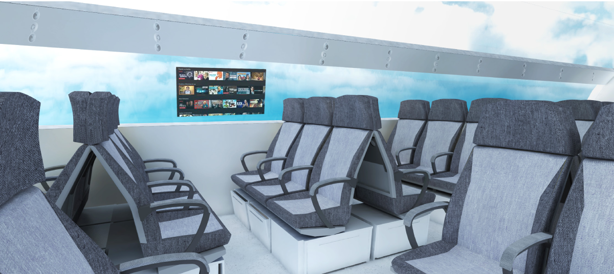 Représentation visuelle des éléments du projet « Le Mirador », qui a obtenu le premier prix du concours d'étude de cas 2018 d'Aéro Montréal.