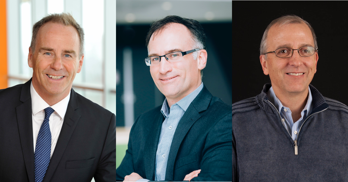 François Bertrand, Carl-Éric Aubin et Yvon Savaria.