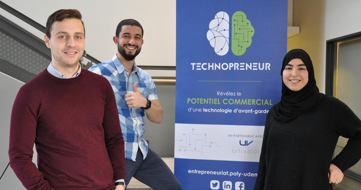Les membres de l'équipe HashHunter du profil Technopreneur 2018-2019.