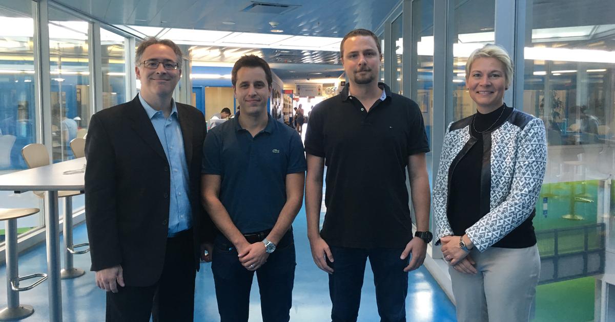Martin Lévesque, Charles Bianchetti, Thierry Klotz et Myriam Brochu de Polytechnique Montréal.