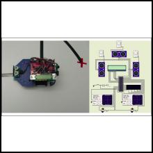 Les étudiantes et les étudiants du cours INF1900 - Projet initial de système embarqué valideront cette année leurs lignes de code sur un simulateur virtuel (image de droite) plutôt qu'un robot (image de gauche).