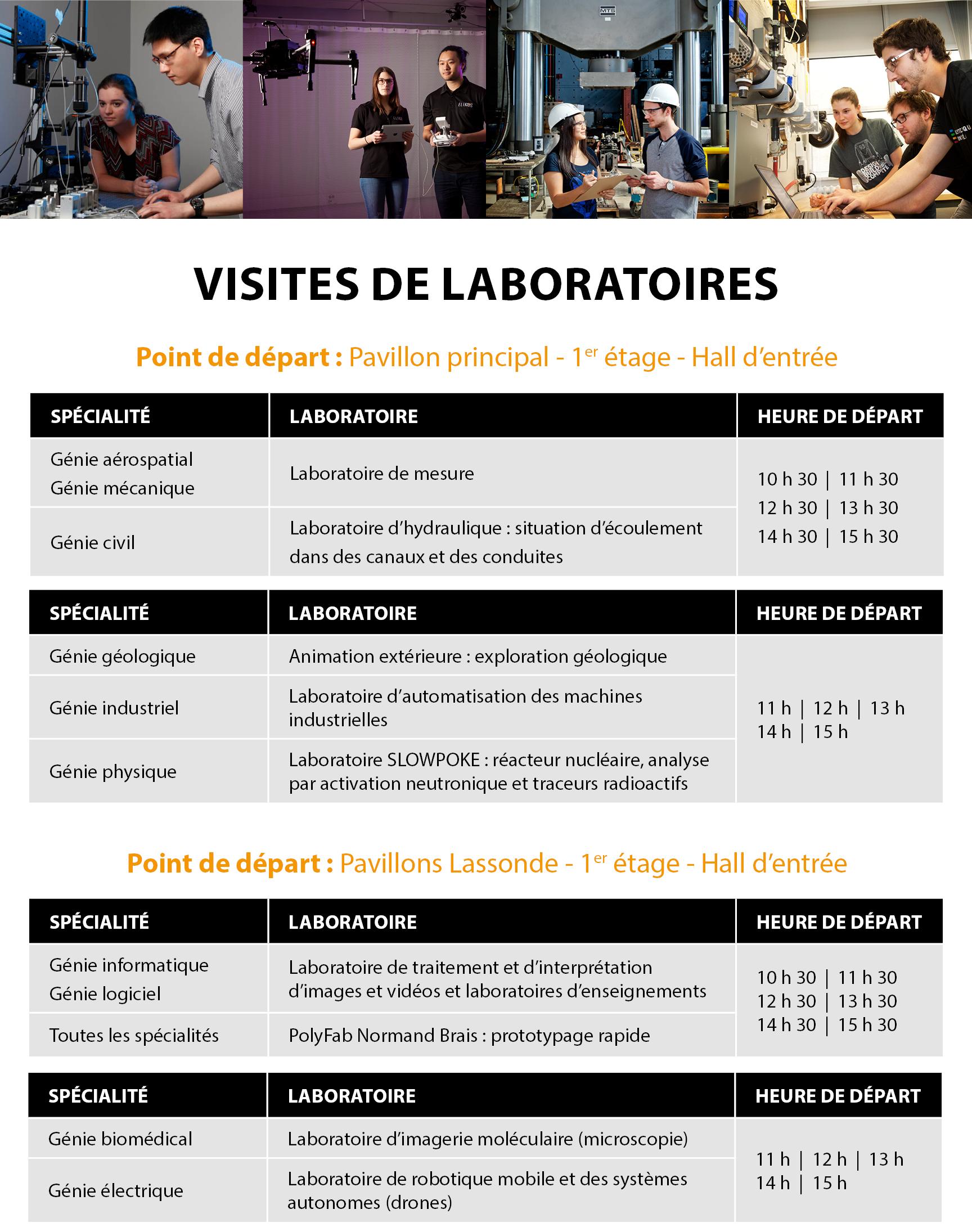 Portes ouvertes 2017 - Visites de laboratoires