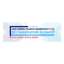 Logo de la deuxième édition du Forum franco-québécois d'innovation en santé