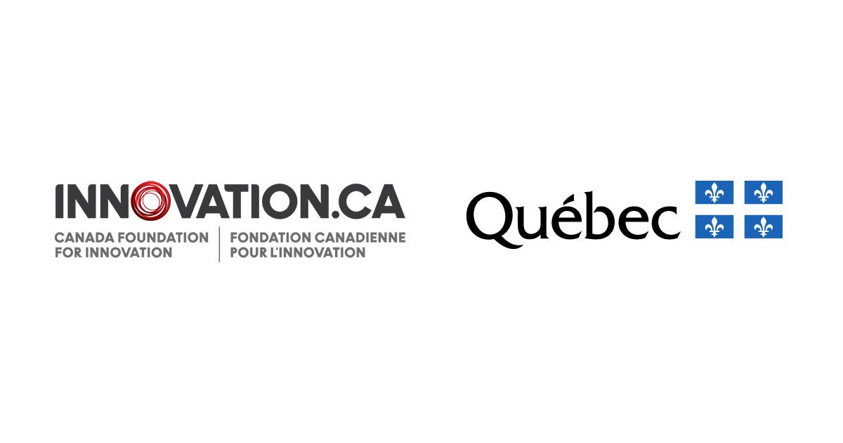 Logos de la Fondation canadienne pour l'innovation et du gouvernement du Québec