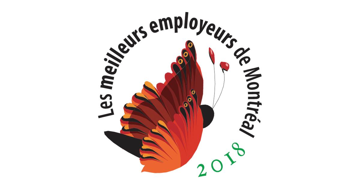Logo Les meilleurs employeurs de Montréal 2018