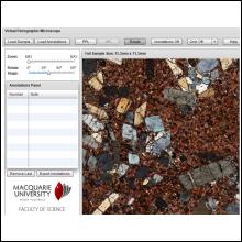 Le microscope virtuel adopté par Félix Gervais permettra aux 23 étudiants du cours GLQ1115 - Pétrographie de compléter leurs laboratoires d'identification des roches.