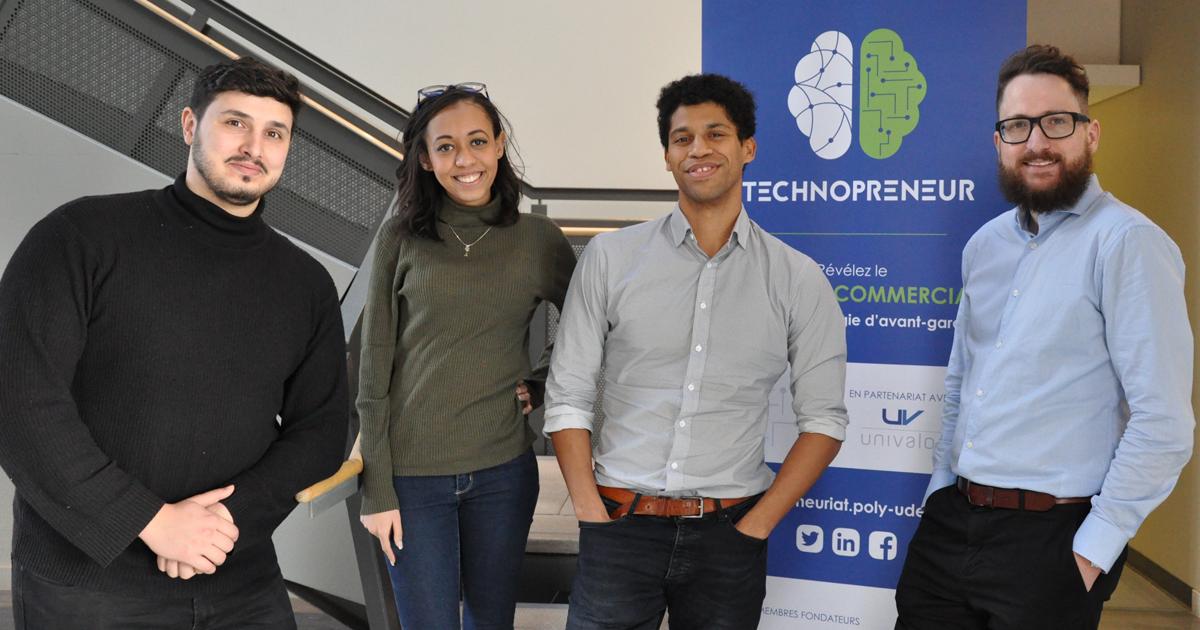 Les membres de l'équipe Miso du profil Technopreneur 2018-2019.