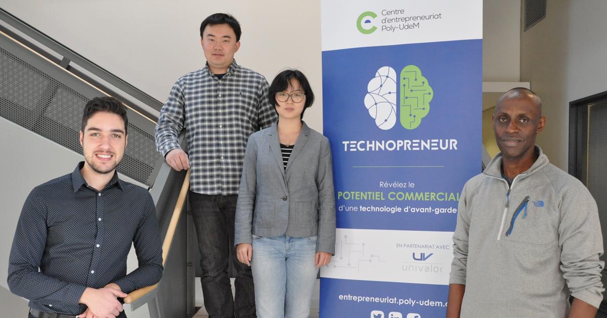 Les membres de l'équipe Mistronix du profil Technopreneur 2018-2019.