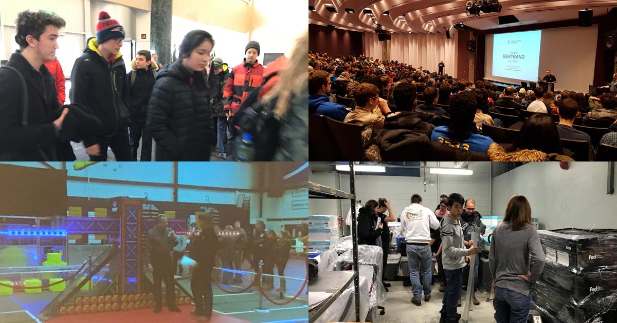 Dévoilement du défi de la Compétition internationale de robotique FIRST 2018 à Polytechnique Montréal.
